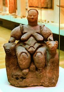 Seated Woman of Çatalhōyūk, Museum of Anatolian Civilizations