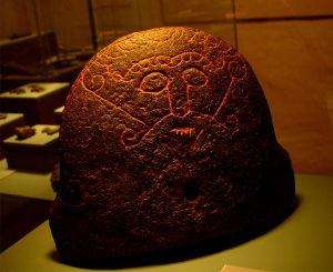 The Snaptun Stone (which may depict Loki), Moesgård Museum