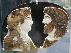 (Sardonyx cameo. Image courtesy of wikimedia commons.)