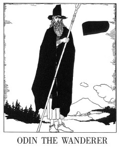 """Odin the Wanderer"" from The Children of Odin by Padraic Colum and Willy Pogany. Courtesy of Wikimedia Commons."