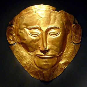 """The Mask of Agamemnon"" courtesy of Wikimedia Commons."