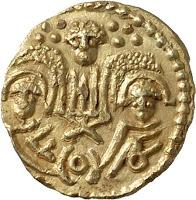 An Anglo-Saxon shilling.