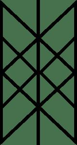 Wyrd bindrune, courtesy of wikimedia commons.