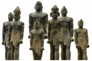 Statues of Kushite Pharaohs. Courtesy of wikipedia.